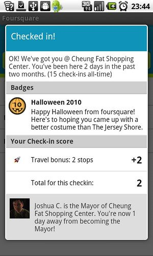 Foursquare Halloween 2010 Badge