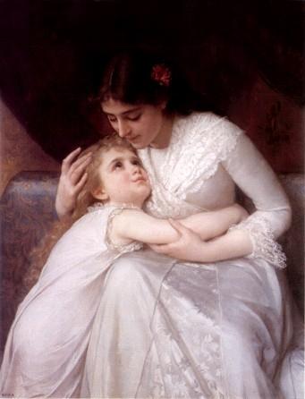 الأم ينبوع عاطفة الطفل