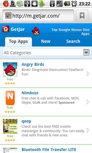 Download Angry Birds for Android at GetJar.com
