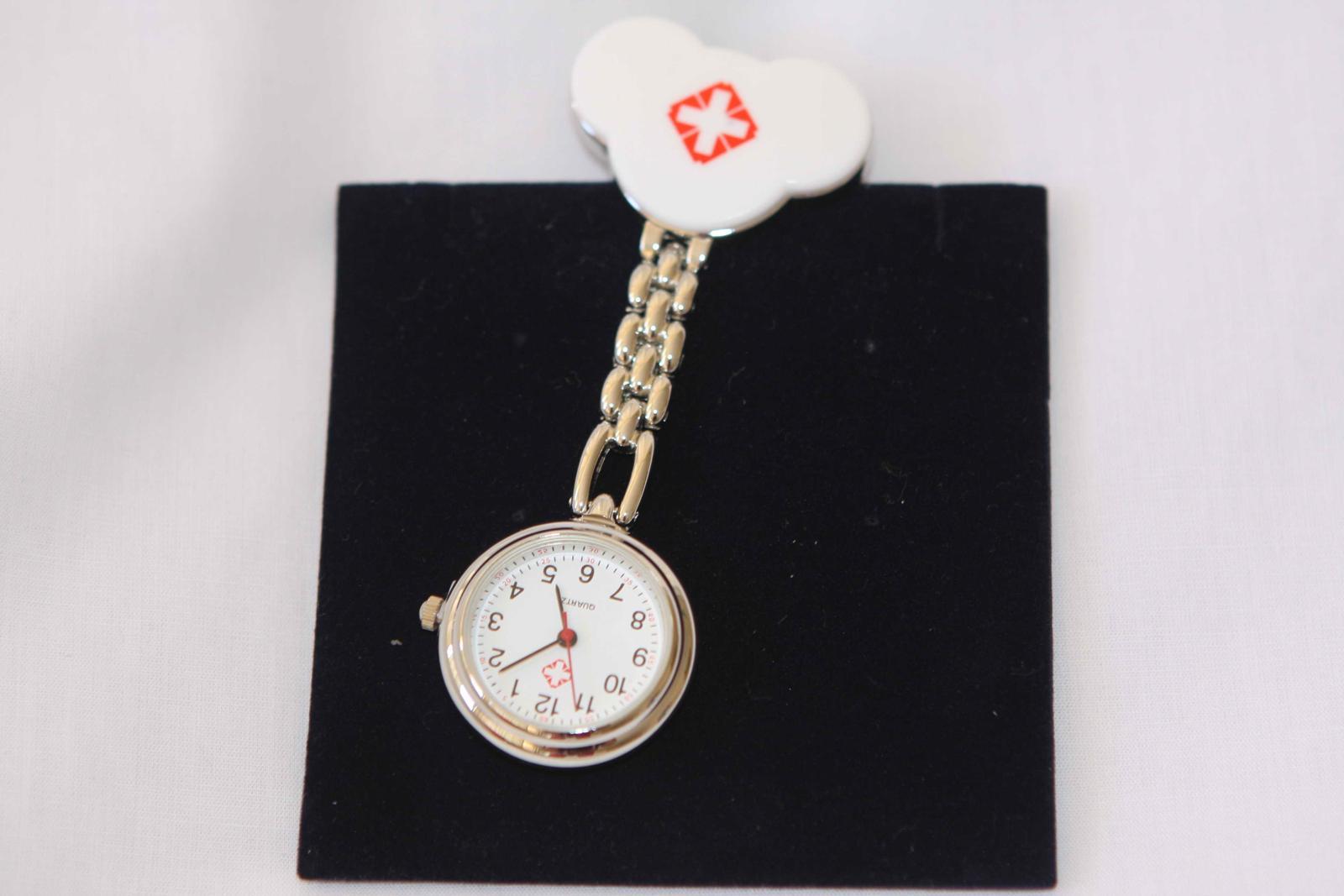 Pink Hello Kitty Nurse Battery Powered New Pocket Watch